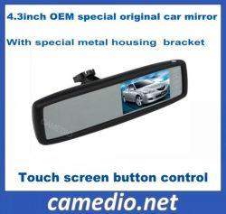 specchio di retrovisione originale speciale dell'automobile dell'OEM 4.3inch con il video dell'affissione a cristalli liquidi