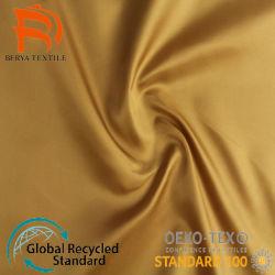 100% poliestere cation Stripe Suit Fodera in tessuto con manica in seta
