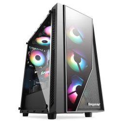 Эбу ATX основных экономических игр с стальную сетку на передней панели USB 3.0 кабеля HD RGB электровентилятора системы охлаждения двигателя
