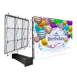 Магнитные всплывающее подставка для дисплея торговой выставке фоне портативный Баннерная реклама -