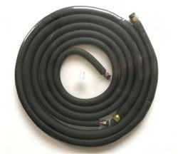 طقم أنابيب مطاط أسود/أنابيب تثبيت نحاسي لمغّير الهواء/خط نحاسي ضبط/أجزاء مكيف الهواء