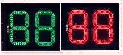 Zweifarbiger Count-down-Timer zwei Digit-LED zur Straßen-Verkehrssicherheit