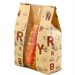 Sacchetto impaccante del Kraft stampato abitudine del sacchetto biodegradabile dell'alimento, sacchetto di caffè, chiusura lampo di superficie industriale su ordinazione dell'alimento della carta kraft
