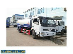 4*2 média do tanque de água 8 caminhões cbm 8m3 Petroleiro Traseiro dispositivos de Lavagem de Veículos Especiais
