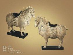 Statue-Zapfen Dynastie-königliches Pferd (A001)