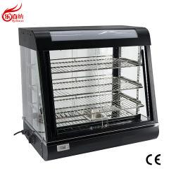 조리대 전기 빵 피자 가열 디스플레이 쇼케이스 머천다이저 음식 보온기 선반 3개 및 슬라이딩 도어 포함(FM-26)