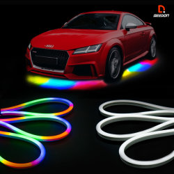 Auto-exterieur LED-lichtkits draadloze auto Neon-underglow Lights Met de muziekmodus