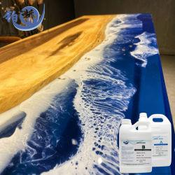 Воды на основе эпоксидной смолы с низкой вязкостью эпоксидной смолы для украшения стола реки решений жидкость эпоксидной смолы, как вода не прозрачный купол