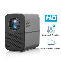 T7 HD LEDのホームプロジェクターBluetooth、1280X720サポート4000内腔の人間の特徴をもつ任意選択、映画館のための完全なHDビデオUSB Beamer