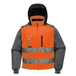 Производитель оптовая торговля модной высокая видимость желтый оранжевый рабочей светоотражающие безопасности куртка
