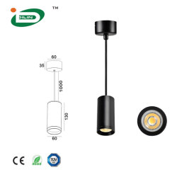 Vendite calde Caffe dell'Europa che illumina l'indicatore luminoso Pendant di alluminio della decorazione della lampada del tubo commerciale della lampada Pendant GU10 3W 5W 7W 9W a casa