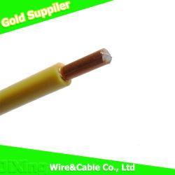 H07V-U sólido núcleo único condutor de cobre com isolamento de PVC Cabo Eléctrico