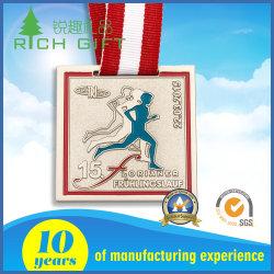 La fabrication de médailles personnalisé avec l'or/ Silver/ Texture de placage en laiton