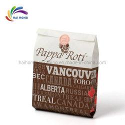 La preuve d'huile de qualité alimentaire personnalisé feuille de papier Kraft imprimé PE sac pour les aliments frits