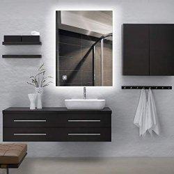 LED-an der Wand befestigter Backlit Spiegel Dimmable, Antinebel, Noten-Fühler