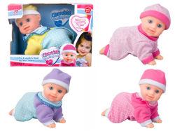Bateria de plástico operadas boneca bebê Engatinhar Doll brinquedo (H5740039)