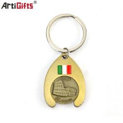 주문 금속 앙티크 각종 색깔 트롤리 동전 열쇠 고리