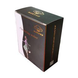 Impresos personalizados de papel cartón Caja de cosméticos con logo estampado en caliente
