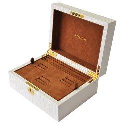カスタム革宝石箱の収納箱のギフト用の箱