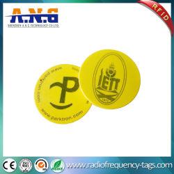 PVC étanche petit disque tag RFID LF avec adhésif 3M