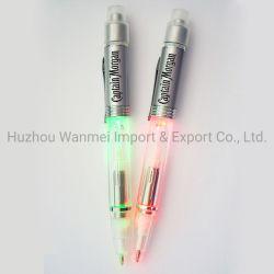 빛을%s 가진 선전용 주문 로고 인쇄 LED 볼펜 볼펜
