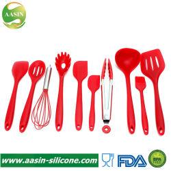 Ustensile de cuisine en silicone définit une profonde louche Turner spatule racloir ustensile de cuisson de la brosse de cuisson