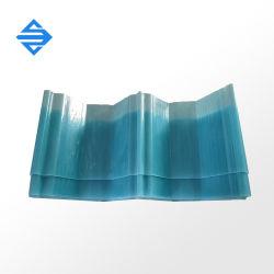 1,5 mm en plastique renforcé de fibre de verre résistant aux UV tôle de toit ondulé PRF tuile de toit GRP lucarne pour les entrepôts de matériaux de construction
