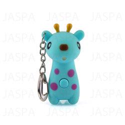 Simulando la torcia elettrica chiara di voce LED Keychain dell'animale della giraffa (71-1Y1091)