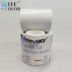 240gsm, 8 polegada RC Laboratório seco brilhante Papel Fotográfico Digital para Noritsu D703 Impressora