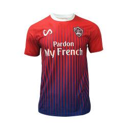 Ajuste a seco personalizado de moda nova Polyester Soccer Jersey camisola de futebol uniforme