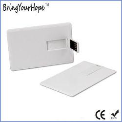 بطاقة محرك أقراص USB محمول بيضاء فارغة (XH-USB-012)
