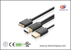 Micro USB 3.0 de Super Snelheid USB 3.0 van de Kabel van Y een Mannetje aan Micro- B Mannetje