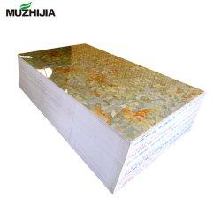 Fiche de marbre en PVC Feuille lenticulaire 3D pour la télévision mur de fond