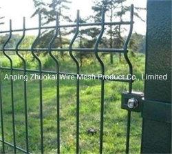 3D 곡선에 의하여 용접되는 PVC 분말 입히는 철 철망사 보호 담
