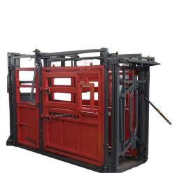 Equipamentos de movimentação de animais pesados Use espremer o gado da portinhola de esmagar a escala elétrico com a roda