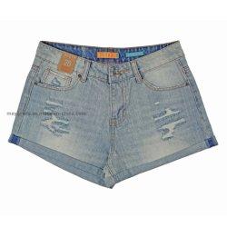Дамы моды &Хорошая стиральная оптовой короткое замыкание джинсовой (Моя-031)