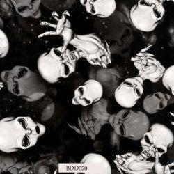 Le crâne de films d'impression Transfert d'eau pour une utilisation quotidienne et le casque (BDD020)