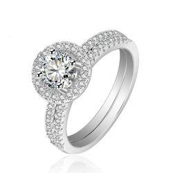 新しいデザイン925銀製の宝石類CZはリングの宝石類を作る