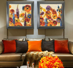 렌즈 모양 3D, 신식 추상적인 다채로운 호텔 유화