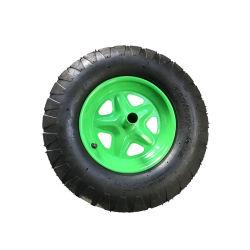 Groen Wiel 4.00-8 van de Rand van het Metaal Rubber pneumatisch