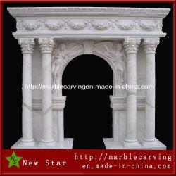 Finestra di marmo di pietra bianca Mentel di bordi del portello