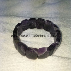 Bracelet Amethyst en cristal normal de talon de rectangle de mode