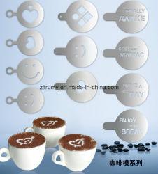 대중적인 스테인리스 커피 예술 스텐슬