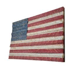 Decoupage rustique en métal peinte à la main drapeau américain un mur en bois Décoration rustique de l'art Accueil