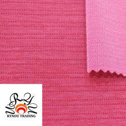 나일론 폴리에스테 스판덱스는 뜨개질을 한 직물에 의하여 줄무늬로 한 탄력 있는 뜨개질을 하는 직물을 혼합했다