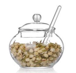 Ciotola di zucchero di vetro del sale del vaso del pepe del sale del vaso di zucchero del vaso di vetro stabilito della caramella