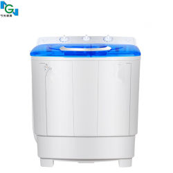 Lavadora de lavadora de moldes Semi-automático de doble barril Mini Lavadora