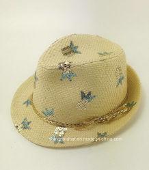 Motif de la paille de papier de l'Ananas Sequin Kids Hat