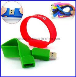 Cadeau promotionnel bandes Flash USB Bracelet en silicone (P6110)