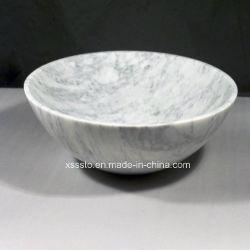 Weißes Carrara-Marmorbadezimmer-Wäsche-Bassin für Bad-Raum-Küche